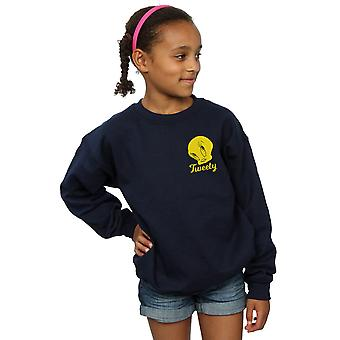 Looney Tunes Girls Tweety Pie Head Sweatshirt