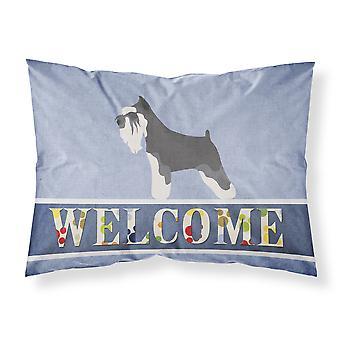 Schnauzer miniatura ¡Bienvenido tela funda de almohada estándar