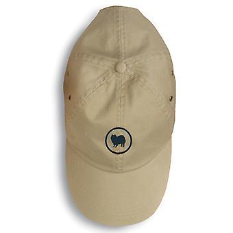 Carolines skarby 156-1107-KHBL American Eskimo Baseball Cap 156-1107