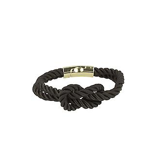 Baxter jewelry London jewellery bracelet knots black magnetic clasp Maritim 21 cm