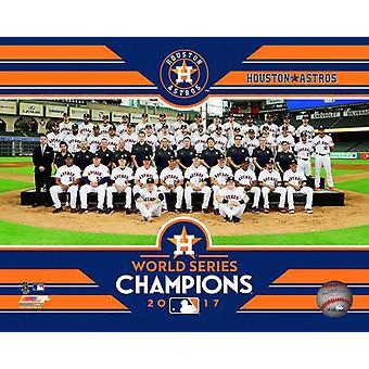 Houston Astros 2017 Champions World Series Team hinsetzen Fotoabzüge