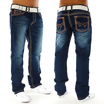 Men's Jeans pants destroyed used regular fit Alessandro