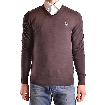 Fred Perry men's MCBI128175O Brown wool sweater