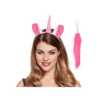 Pink Unicorn Ears & Tail Fancy Dress Accessory