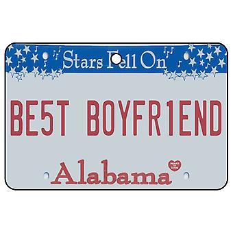 Alabama - Best Boyfriend License Plate Car Air Freshener