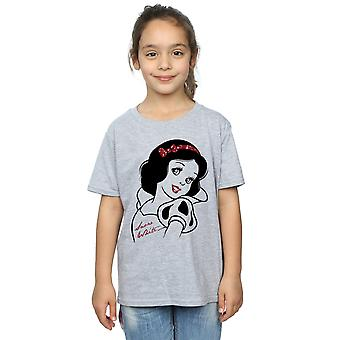 Disney Princess Girls Snow White Glitter T-Shirt