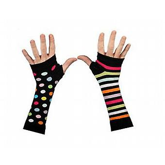 Colourful Spots & Stripes Arm Warmers