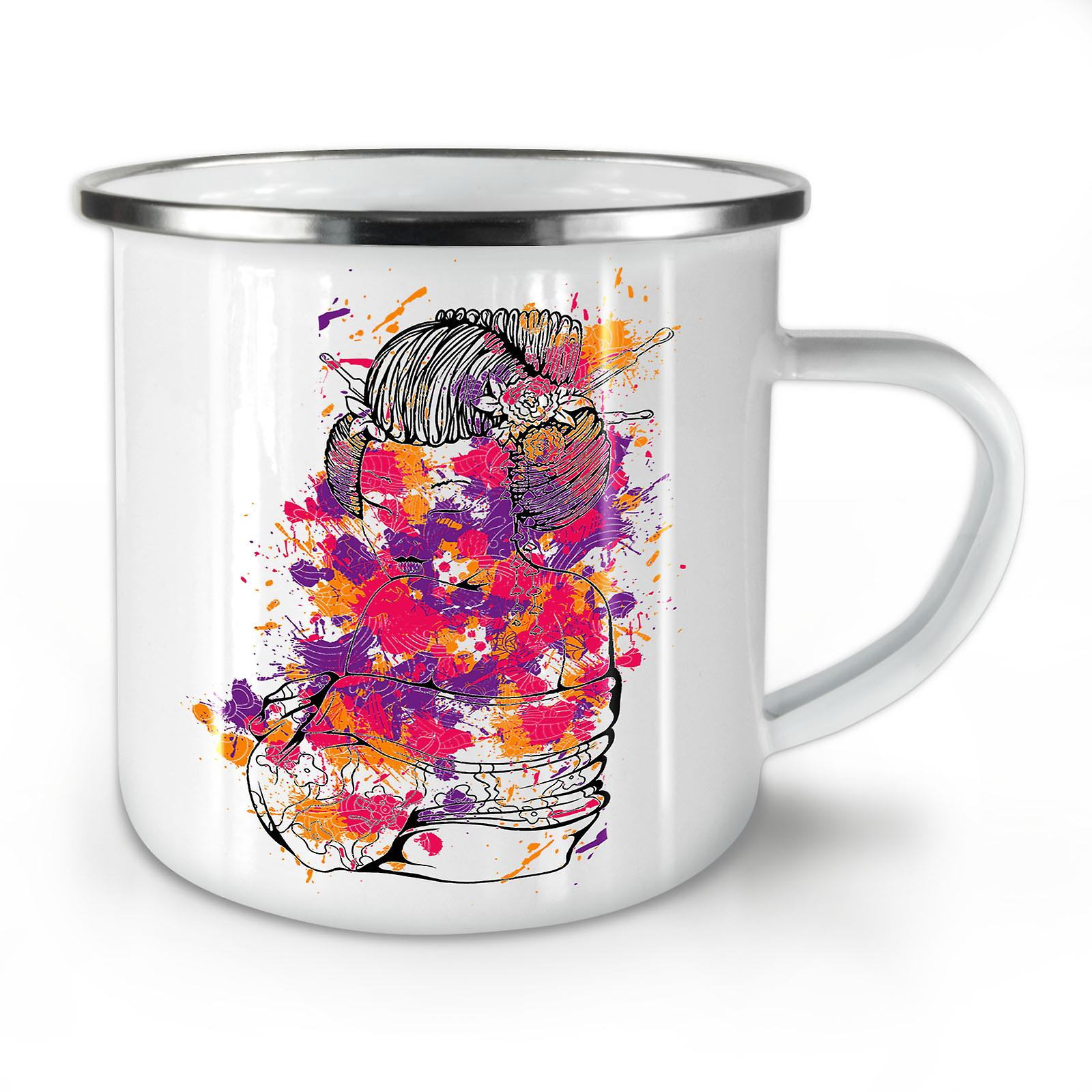 Whitetea Girl Enamel OzWellcoda New Sexy Art Coffee Mug10 qSzMLVpGjU