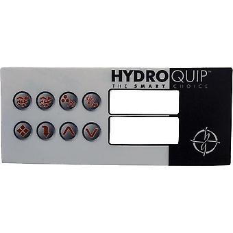 Hydro-Quip 80-0211 8-Button HT2 Spa Side Label Overlay