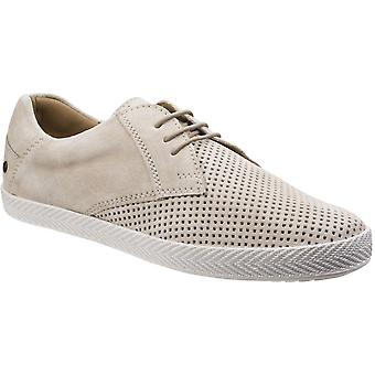 Base London Mens Keel Suede Leather Casual Lace Up Espadrille Shoes