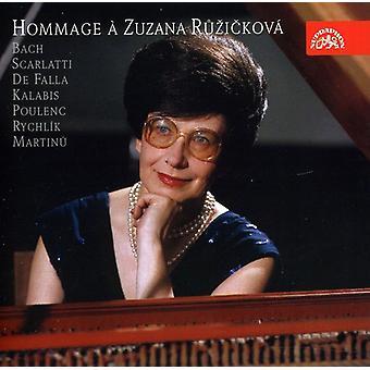 Bach/Scarlatti - importación de Estados Unidos homenaje Zuzanna Ruzickova [CD]