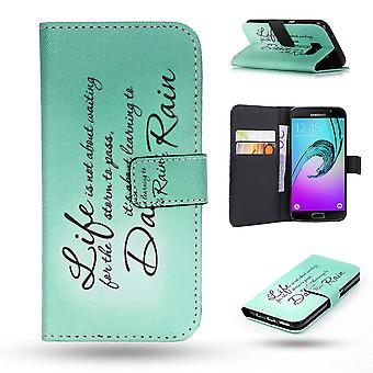 Samsung Galaxy A3 2016-Case/wallet Leather-words of wisdom