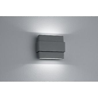 Trio Lighting Padma Modern Anthracite Diecast Aluminium Wall Lamp