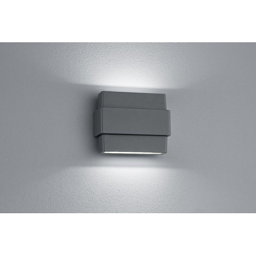 Trio lumièreing Padma Modern Anthracite Diecast Aluminium Wall Lamp