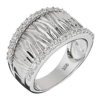 Orphelia Silver 925 Ring Satin  Zirconium   ZR-3569-1
