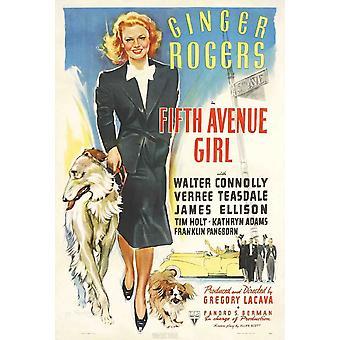 Fifth Avenue Girl filmaffisch (11 x 17)