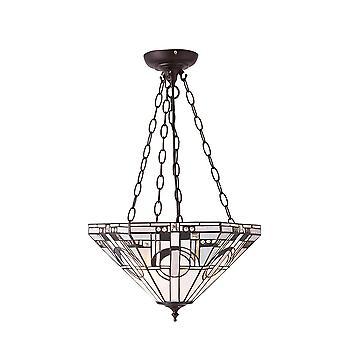 Interiors 1900 Metropolitan 3 Licht invertiert Decke Anhänger Witz