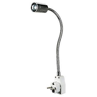 LED プラグイン ライト 1 W EEC: LED (は - E) 暖かい白い SLV Dio フレックス プラグ 146672 クローム