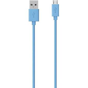 Belkin USB 2.0 Cable [1x USB 2.0 connector A - 1x USB 2.0 connector Micro B] 2 m Blue