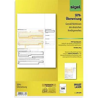 Sigel Bank transfer form SEPA-Überweisung A4 No. of sheets: 100 ZV570