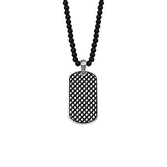 s.Oliver jewel mens necklace Onyx stainless steel 2022625