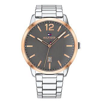 Tommy Hilfiger męskie zegarek Dustin srebrny