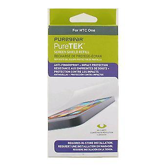 5 pack - PureGear Puretek HD Anti impronta protezione dello schermo per HTC uno