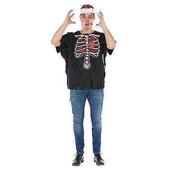 3D skräck skjorta mens kostym Halloween skelett T-Shirt