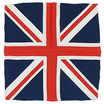 Michelsons of London Union Jack Silk Handkerchief - Red/White/Blue