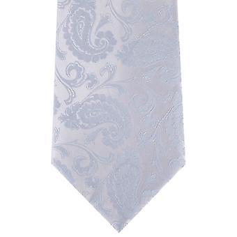 David Van Hagen Paisley Tie - jasnoniebieski