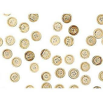 30 Natural 23mm Wooden Buttons for Crafts | Sewing Scrapbooking Card Making