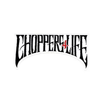 West Coast Choppers White Choppers For Life - 128 X 62 Sticker