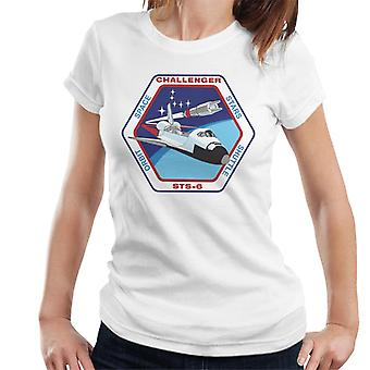 NASA STS 6 Space Shuttle Challenger Mission Patch Women's T-Shirt