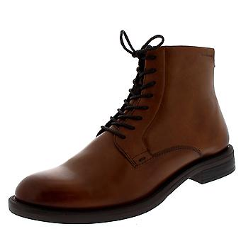 Womens Vagabond Amina Leather Cognac Fashion Winter Lace Up Ankle Boots