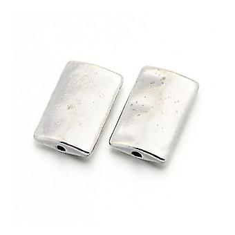 حزمة 10 × الفضة في التبت 10 x 17 ملم مستطيل مباعدة الخرز HA17510