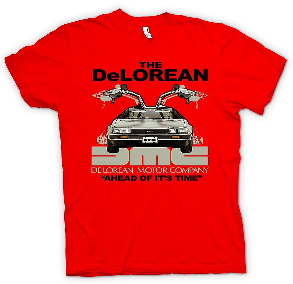 Mens t-skjorte - DeLorean - forut for sin tid