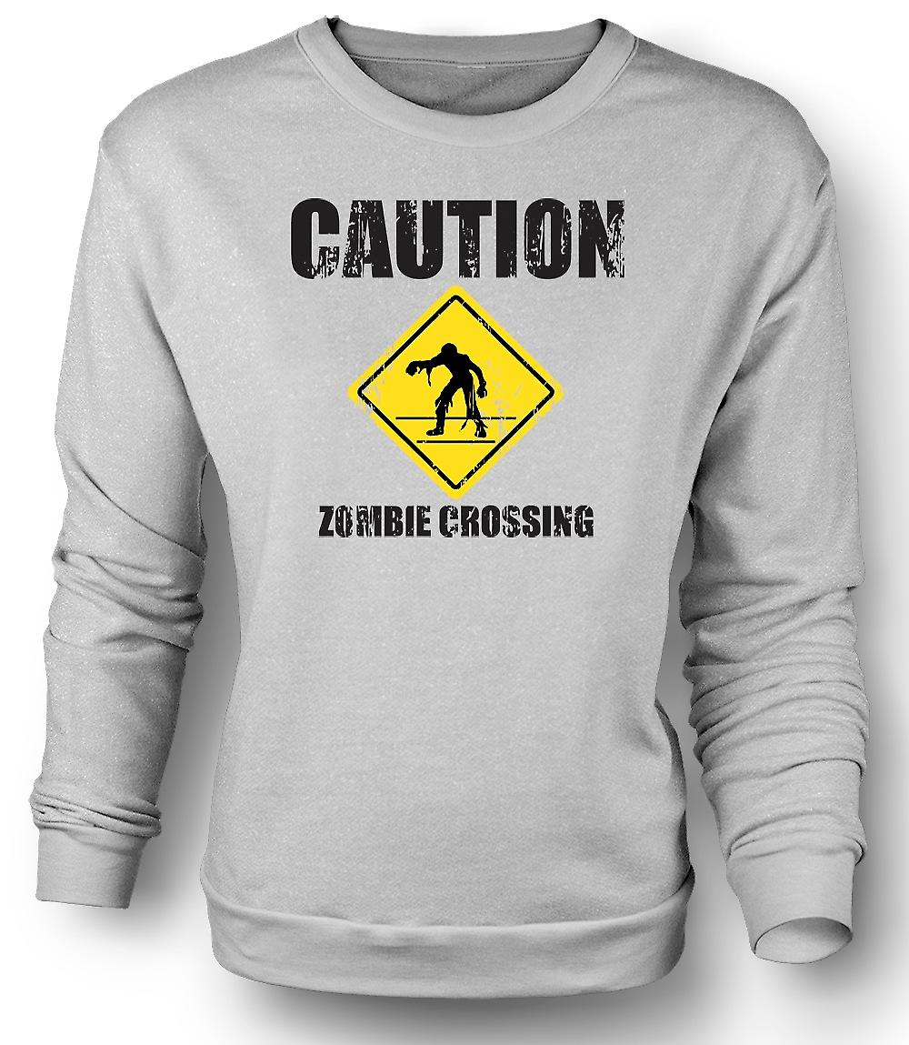 Mens Sweatshirt Zombie Crossing - lustig - Horror
