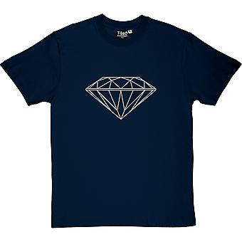 T-shirt dos homens bling (impressão de prata)