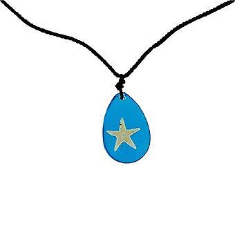 The Olivia Collection Sea Life Necklace with REAL Starfish Set In Blue Resin
