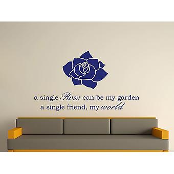 Rose simple Wall Art autocollants - Ultra Blue