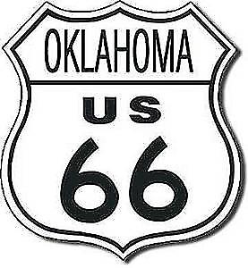 Route 66 Oklahoma shield metal sign
