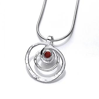 Cavendish French Silver and Red Jasper Spiral Pendant without Chain