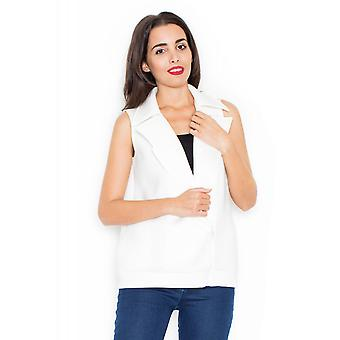 Katrus ladies vest Ecru white