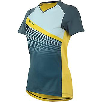 Pearl Izumi Blue Steel-Skylight Fracture Launch Womens Short Sleeved MTB Jersey