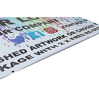 GNG 1-10m / 3.3-33ft / Design Personalised Banner Printing Outdoor Vinyl PVC Advertising Business Sign Display Printed Heavy Duty