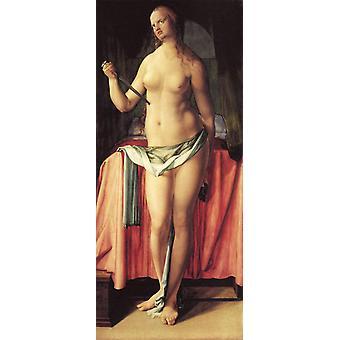The Suicide of Lucretia,Albrecht Durer,80x35cm