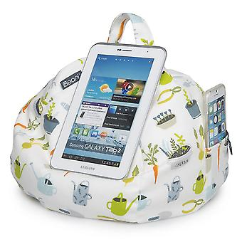 Ipad, tablet & ereader bean bag stand by ibeani - gardening