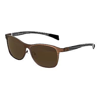 Breed Templar Titanium Polarized Sunglasses - Brown/Brown