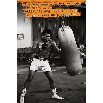 Affiche - Studio B - Muhammed Ali - Punchbag 36x24