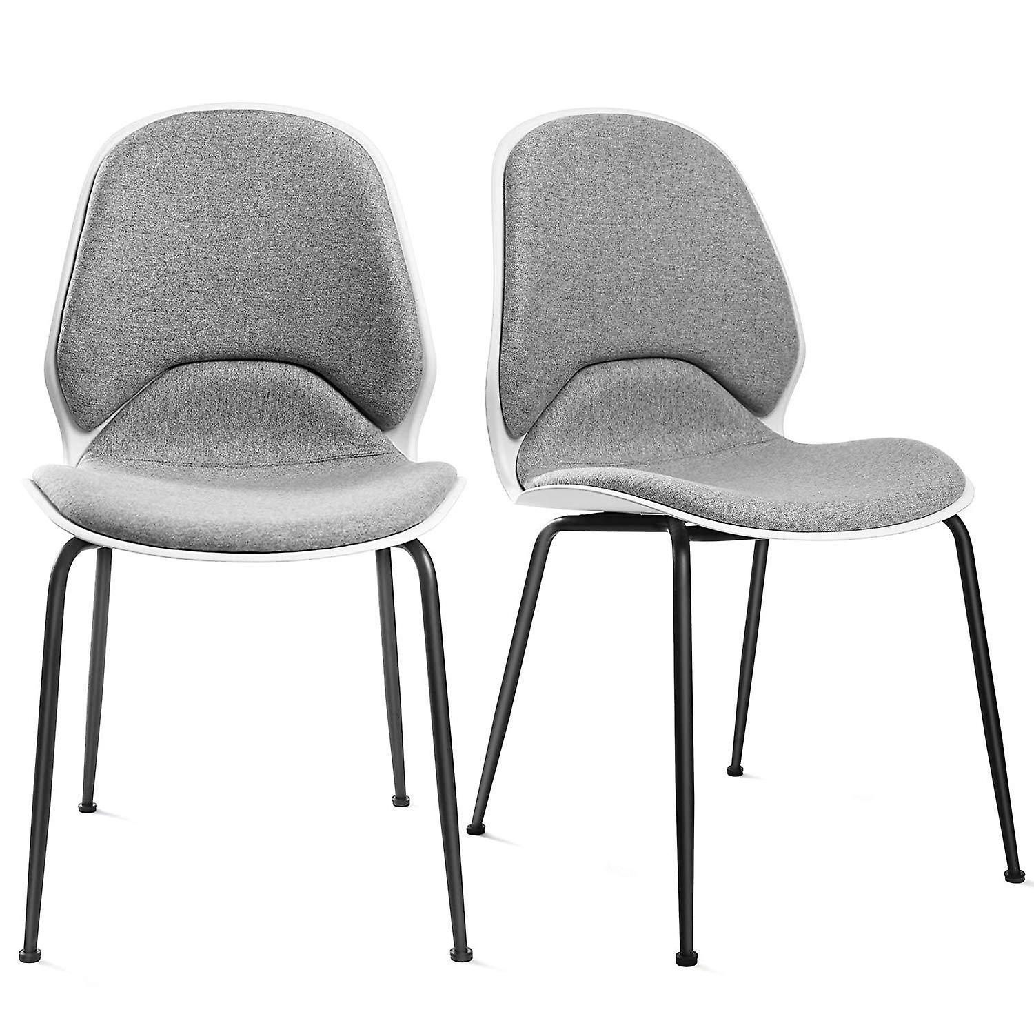 Set of 2 ergonomic dining chairs with soft seat
